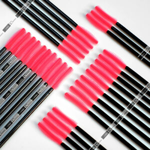 Disposable-Silicone-Mascara-Wand-Brush-Pink-Curved-Tip-for-Eyelash-Extension