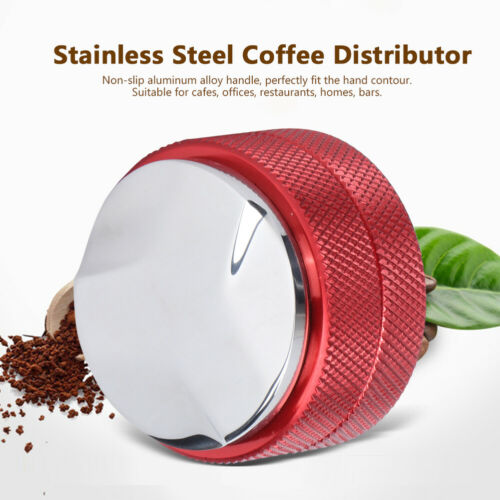Stainless Steel Coffee Tamper Height Adjustable Distributor Leveler Tool 58mm