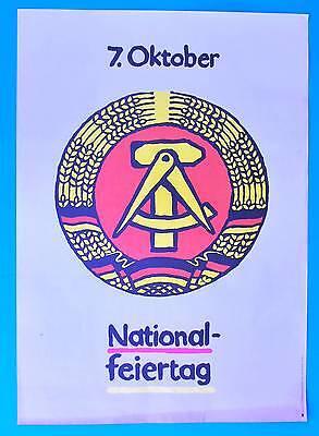 Kenntnisreich Ddr Plakat Poster 1305 | 7. Oktober Nationalfeiertag 1987 | 81 X 57 Cm Original In Den Spezifikationen VervollstäNdigen