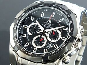 20281788b CASIO EDIFICE Chronograph 100M EF540D-1A EF-540D-1A Black Free Ship ...