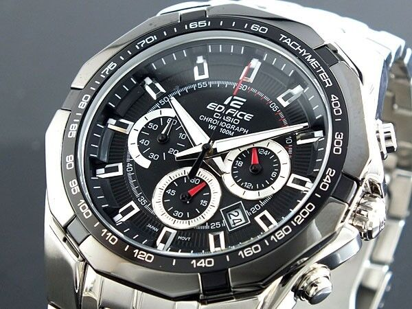 c53c15c96b4e Casio Edifice Chronograph 100m Ef-540 2711 Black Tested Guaranteed Working  for sale online