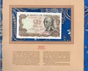 Most Treasured Banknotes Spain 100 Pesetas 1970 P 152 UNC Prefix 7F