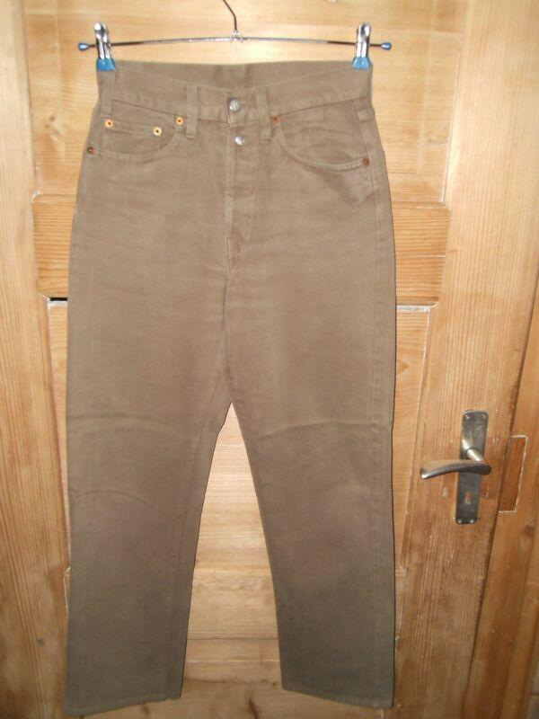 Herren Vintage Jeans/hose Gr. W28/l30 *** Replay 901 Regular *** Khaki Top Zust. Jade Weiß