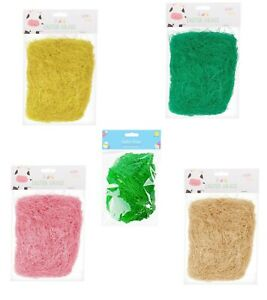 32g-Easter-grass-Decoration-for-Arts-amp-Crafts-Fake-Grass-Coloured-Flax-Material