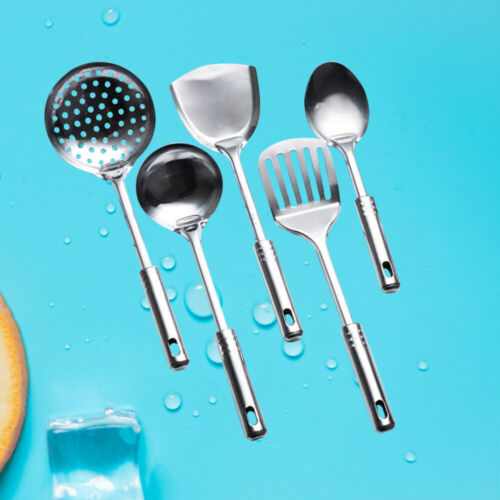 5Pcs//set Stainless Steel Spoons Shovel Spatula Cooking 5Pcs Tools Kitchen Set