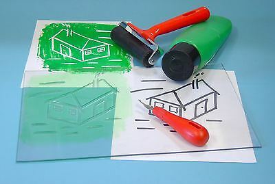 2 Klar Transparent Einfach Carve Linoleum Block Weich Kachel Drucken Bretter