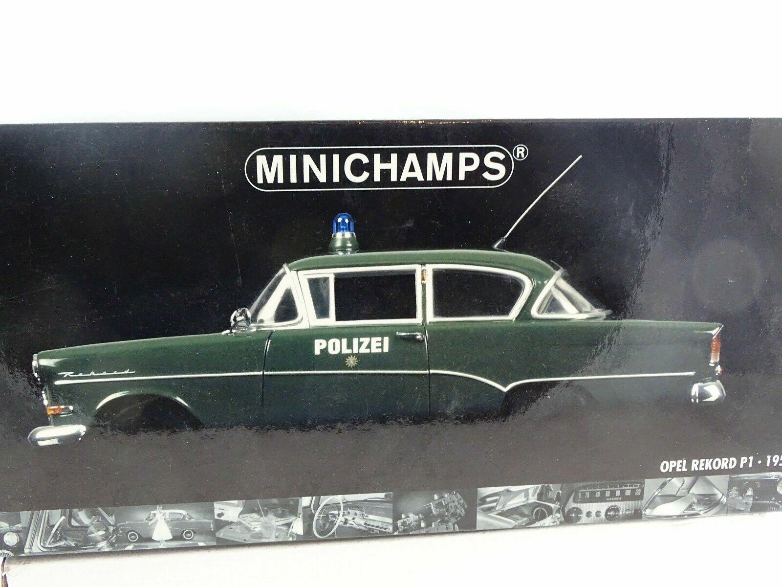 1 18 Minichamps - 1958 Opel Rekord p1 policía rareza nuevo en el embalaje original