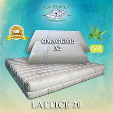 Materasso lattice Matrimoniale 160x190 Aloe Vera + 2 guanciali lattice OMAGGIO