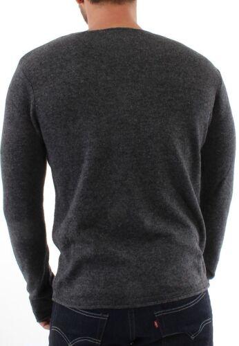 Solid Maglione Men Knit Hansch Dark Grey