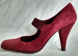 Rosa Terre Pied 38 Rot Damen Neu Janes Schuhe Mary A 5 Damen Wildleder Größe B6nwAXUq1
