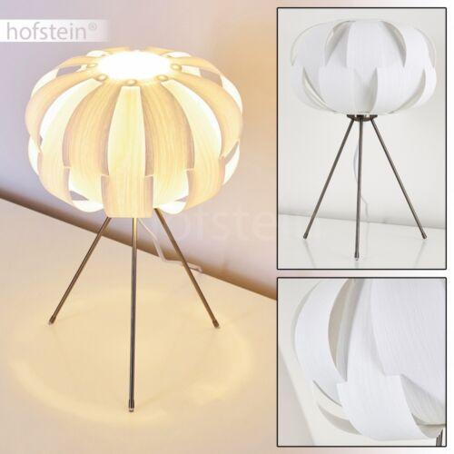 weiße Nachttisch Lese Lampen Wohn Schlaf Zimmer Beleuchtung Retro Tisch Leuchten
