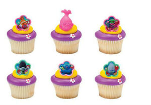 24 Pokemon Cup Cake Topper Decoration Baking Party Supplies