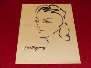 Jacques-Van-Meegeren-Faelscher-amp-Schnuere-von-Frau-Zeichnung-Original-Signiert