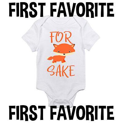 For Fox Sake Baby Onesie Shirt Shower Gift Funny Infant Newborn Clothes Gerber