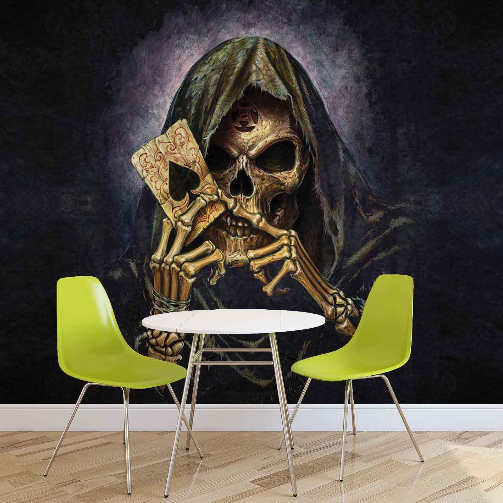WALL MURAL PHOTO WALLPAPER XXL Skull Death Ace Alchemy (979WS)