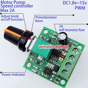 Mini DC Motor Speed Controls Adjustable Controller Board DC 3V 5V 6V 9V 12V 2A