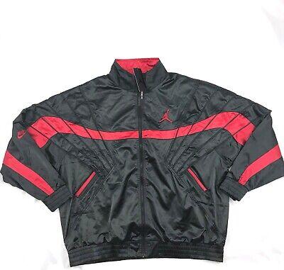 Nike Air Jordan 5 AJ5 Satin Full Zip Jacket Bred Black Red AR3130 010 Mens S XXL   eBay