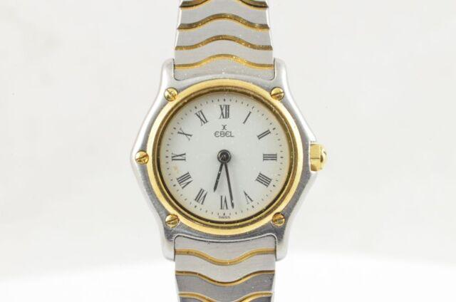 Ebel Sport Classique Quartz Women's Watch Steel/Gold 23MM 1057901 Nice Condition