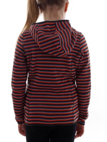 CMP Polaire fonction gilet tricot veste orange rayures knittech
