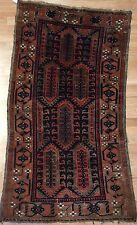 Gorgeous Ghalamdan - 1900s Antique Persian Carpet - Baluch Tribal Rug 3 x 5.2 ft
