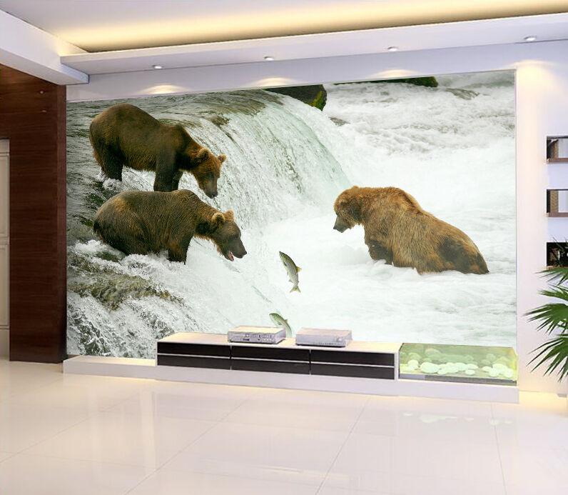 3D orso 156 Parete Murale Foto Carta da parati immagine sfondo muro stampa