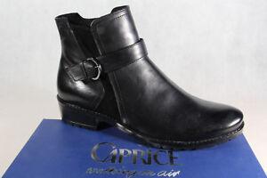 7bef4afd713acb Das Bild wird geladen Caprice-Stiefel-Stiefeletten-Boots-Winterstiefel- schwarz-Leder-25418-