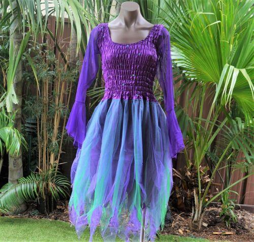 Purple /& Green CHILD/'S SIZE 12-14 Fairy Dress Dance Ballet Costume