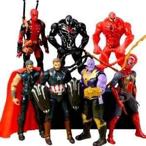 Venom Spiderman 15cm Dead pool Hulk Thanos Hulkbuster Doctor Iron Thor Avengers