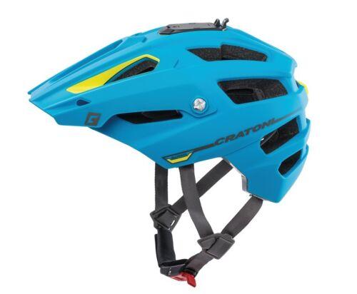 CRATONI AllTrack Fahrradhelm // blau/lime gummiert Helme Helme & Protektoren
