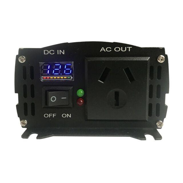 Car Power Inverter 500W Peak 1000W Pure Sine Wave 12V DC to 240V AC 50HZ From AU