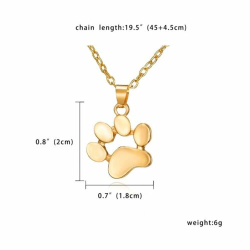 Women Hollow Gold//Silver Paw Necklace Pendant Clavicle Choker Fashion Jewelry