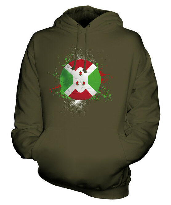 BURUNDI FOOTBALL UNISEX HOODIE TOP GIFT WORLD CUP SPORT