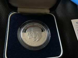 1981 Prince Charles and Lady Diana Wedding Silver Proof £5 Crown