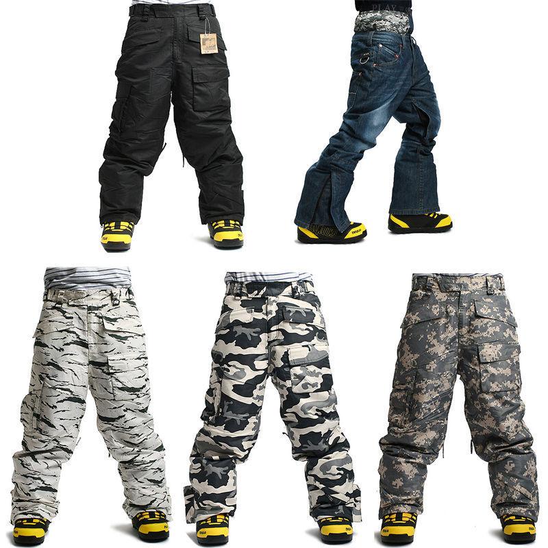 South Play Mens Waterproof Ski Snowboard Military Winter Pants Trousers