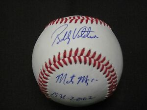 NEW YORK METS BELOVED MANAGER BOBBY VALENTINE SIGNED AUTOGRAPH BASEBALL W/COA