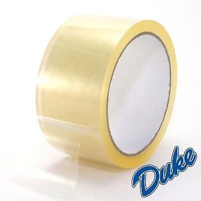 BIG Rolls Of CLEAR STRONG Parcel Tape Packing sellotape Packaging 48mm x 66m CS