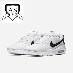 Nike-Air-Max-OKETO-Men-039-s-Running-shoes-Size-11-5-12-White-Black-AQ2235-100-NEW