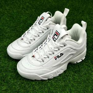 Originale-FILA-Disruptor-II-2-zapatos-autenticos-blancos-unisex-Tamano-35-44