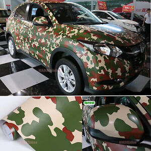 Bubbles-Free-DIY-Car-Forest-Tree-Camouflage-Camo-Vinyl-Wrap-Decal-Sticker-AB