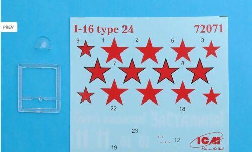 SOVIET FIGHTER I-16 TYPE 18 USSR PLASTIC MODEL 1//72 scale model ICM 72072