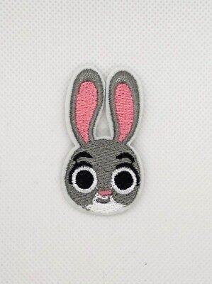 Movie cartoon Zootopia Judy Hopps rabbit Embroidered Iron On//Sew On Patch