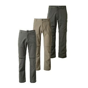 Mens Craghoppers Nosilife Convertible Zip Off Trousers Shorts CMJ 368 RRP £70