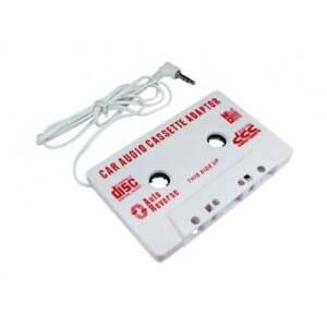 3.5mm Jack Stereo to Car AUX Audio Cassette Tape Adaptor Adaper Converter White