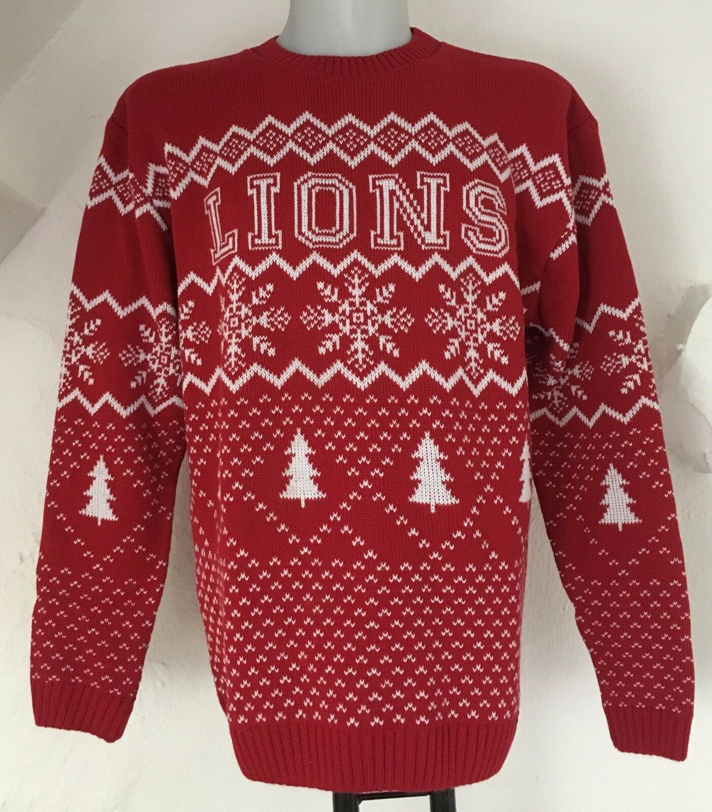 BRITISH AND IRISH LIONS CHRISTMAS JUMPER BY SPORTFOLIO SIZE MEN'S XXL BRAND NEW