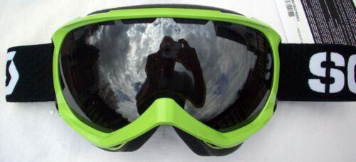 NEW $110 Scott Mens Reply RARE Green Ski Goggles Snow Smith Winter Black White