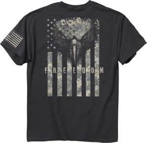 Buckwear-Freedom-Eagle-Digi-Patriotic-GRAY-Adult-T-Shirt