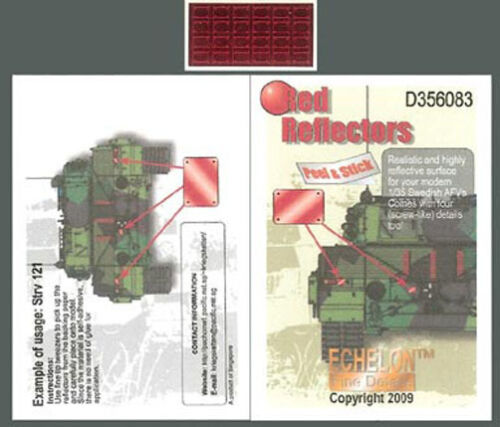 Echelon 1//35 #D356083 Red Reflectors for Modern Swedish AFVs