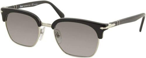 Authentic Persol PO3199S 1106M3 Sunglasses Silver Black w// Grey *NEW* 53mm