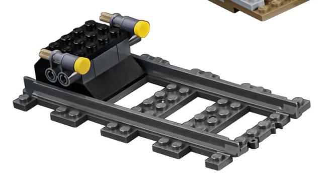 Lego Ciudad de Carga Tren 60198 Almacenador Intermediario End Stop con 1 Recto