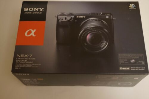 1 of 1 - Mint Sony Alpha NEX-7K 24.3MP Digital Camera Black (Kit w/ E OSS 18-55mm Lens)